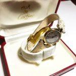 Часы Cartier серебряные,покрыты золотом,20 микрон. Диаметр 24 мм.