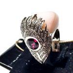 Кольцо Сarrera y Сarrera с розовым камнем