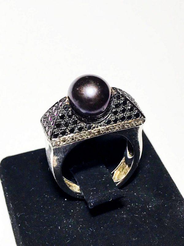 Кольцо Сarrera y Сarrera с жемчугом и бриллиантами